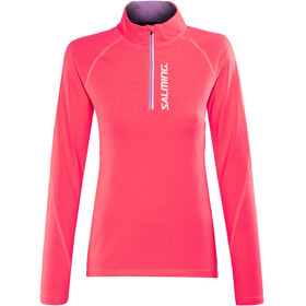 Salming Halfzip LS Tee - T-shirt manches longues running Femme - orange
